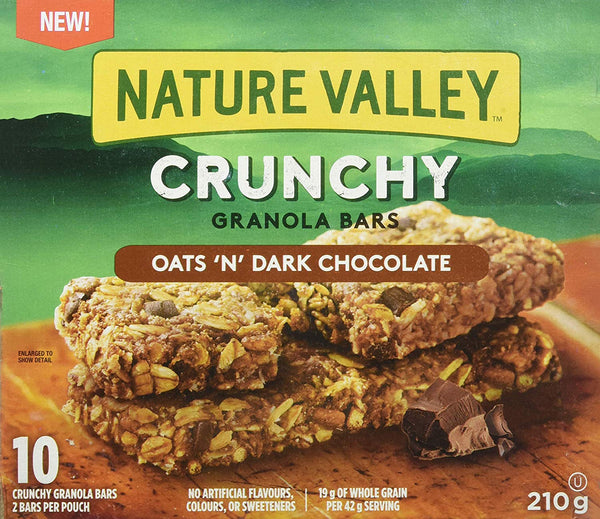 Nature Valley Crunchy Granola Bar, Oats And Dark Chocolate 210g
