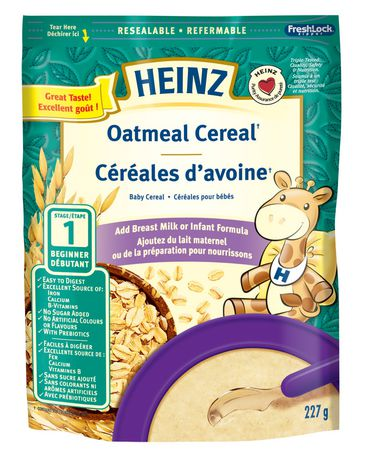 Heinz Baby, Oatmeal Cereal With Milk 227g
