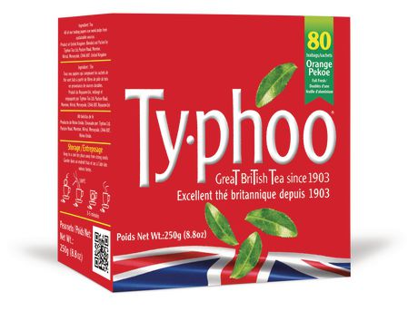 TYPHOO ORANGE PEKOE GREAT BRITISH TEA 80 PK