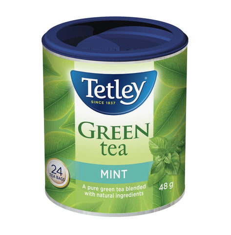 TETLEY MINT GREEN TEA 24 BAGS