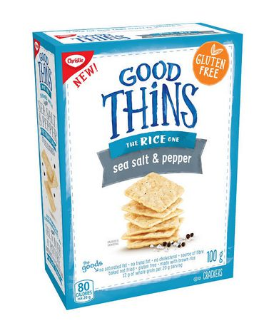 Christie Good Thins The Rice One Sea Salt And Pepper Crackers 100 g
