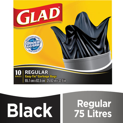 GLAD EASY TIE GARBAGE BAGS 10 PK