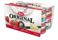 Astro Indulgent Yogurt, Vanilla Cream/Strawberry 12x100g