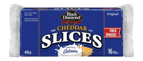 BLACK DIAMOND THICK CHEESE SLICES 16 PK 450 G