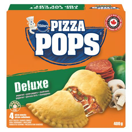 Pillsbury Frozen Pizza Pops, Deluxe Pizza Snacks 4 Pack 400 G