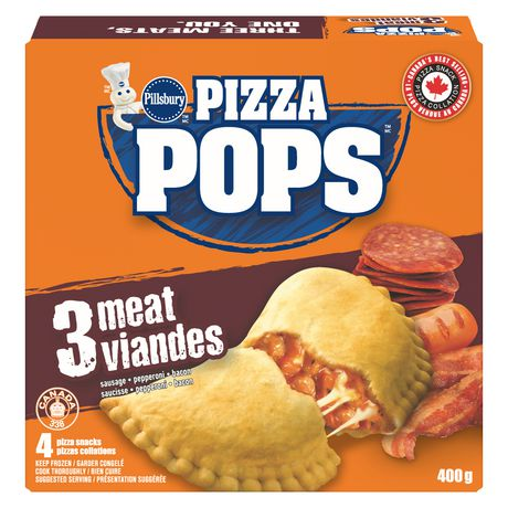 Pillsbury™ Pizza Pops™ Three Meat Pizza Snacks 4 pizza snacks, 400 g