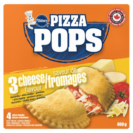Pillsbury Frozen Pizza Pops 3 Cheese 4 Pack 400g
