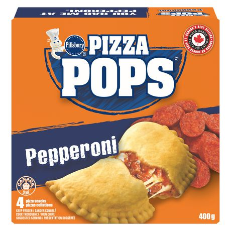 Pillsbury Frozen Pizza Pops' Pepperoni Pizza Snacks 4 Pizza Snacks, 400 G