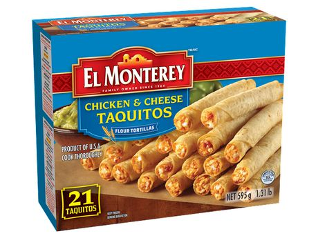 EL MONTEREY CHICKEN & CHEESE TAQUITOS 595 G