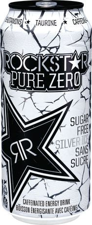 ROCK STAR PURE ZERO SILVER ICE 473 ML