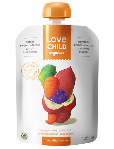 Love Child Organics Super Blends Baby Puree - Apples, Sweet Potatoes, Broccoli & Spinach 128 ml