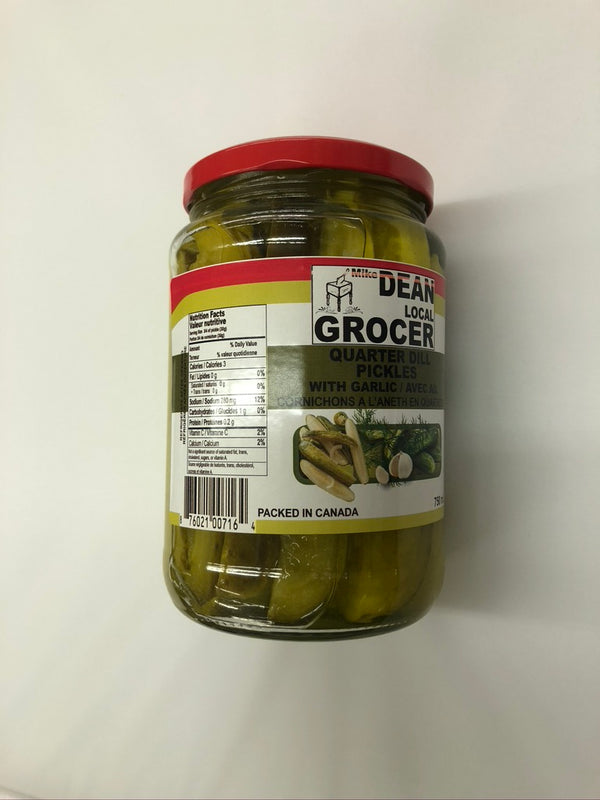 Nancy Fancy Quarter Dill Pickles W/Garlic 1 Lt
