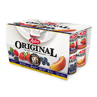 Astro Original Yogurt, Peach/Fieldberry/Strawberry/Blueberry 12x100g