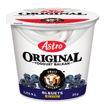 Astro Original Balkan Fruit on Bottom Yogurt, Blueberry 175g