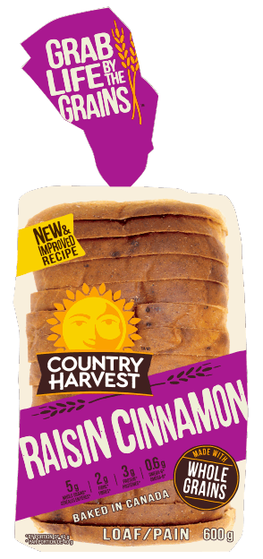 Country Harvest Bread, Cinnamon Raisin 600g