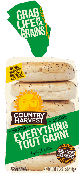 Country Harvest Bagel, Everything 6pk