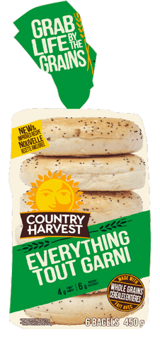 C HARVEST EVERYTHING BAGEL 6 PACK