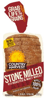 Country Harvest Bread, Stone Milled Roasted & Malt Wheat 675g