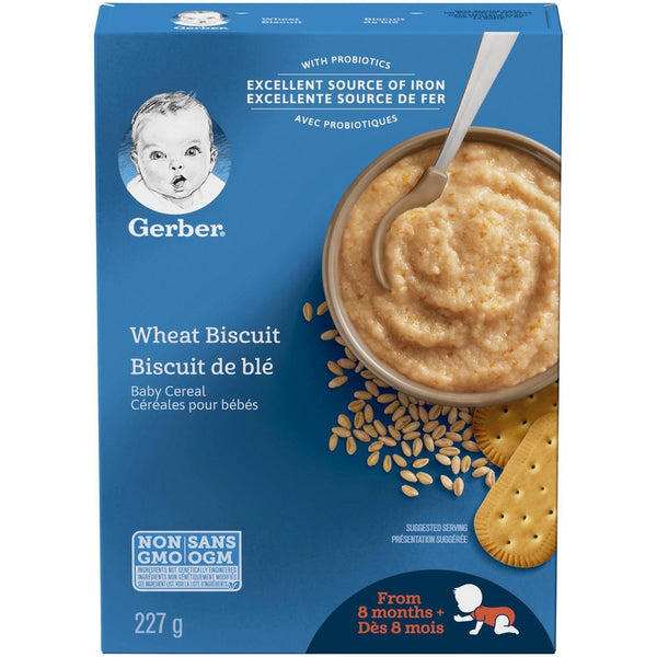 Gerber Wheat Biscuit Cereal 227g