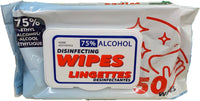 HOME AESTHETICS DISINFECTING CLEANING WIPES 50 COUNT