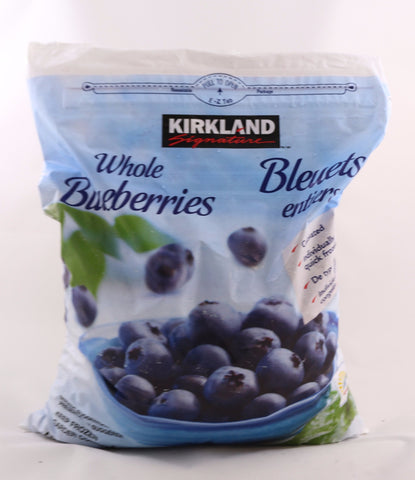FROZEN Kirkland Signature Whole Blueberries 2 kg