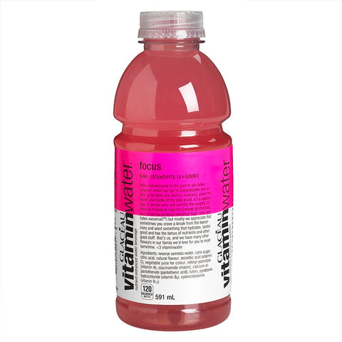 GLACEAU FOCUS KIWI STRAWBERRY VITAMIN WATER	591 ML