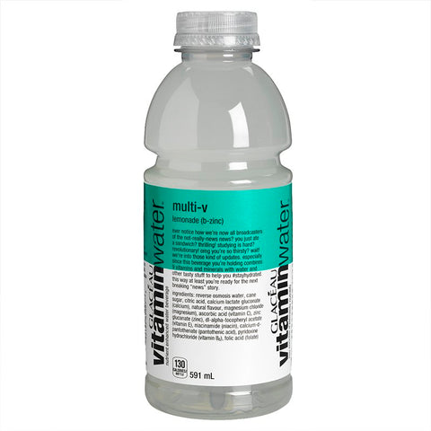 GLACEAU MULTI-V LEMONADE VITAMIN WATER	591 ML