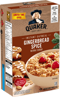 Quaker Instant Oatmeal, Gingerbread 336g