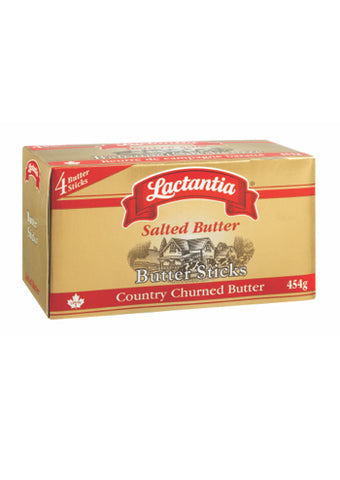 LACTANTIA SALTED BUTTER STICKS 454G