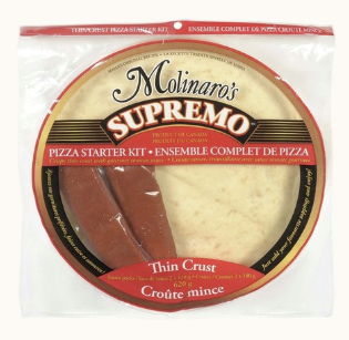 MOLINAROS SUPREMO THIN CRUST STARTER KIT 2 PK