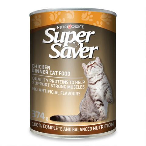 Super Saver Cat Chicken Dinner 374 G