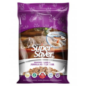 Super Saver Cat Seafood Flavour 1.5Kg