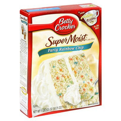 B.C. SUPERMOIST CAKE MIX RAINBOW BIT 432GR.