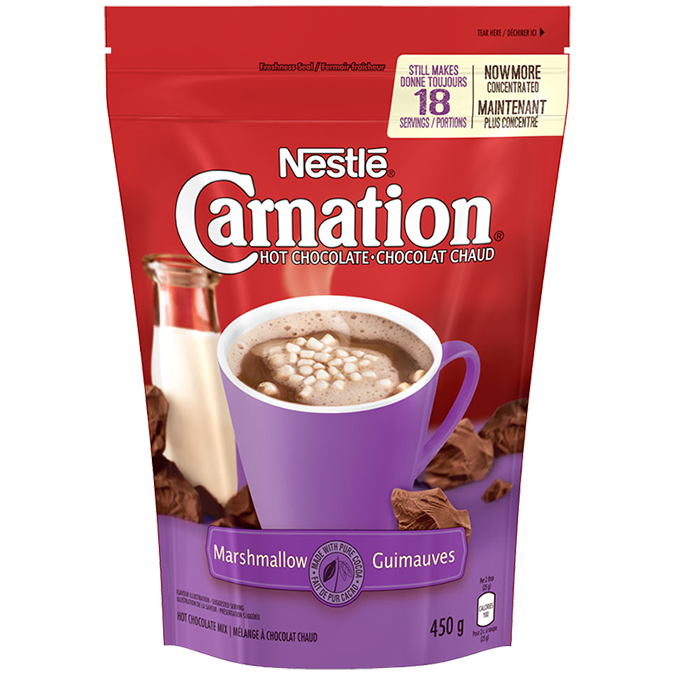 NESTLE CARNATION HOT CHOCOLATE MARSHMALLOW	450 G