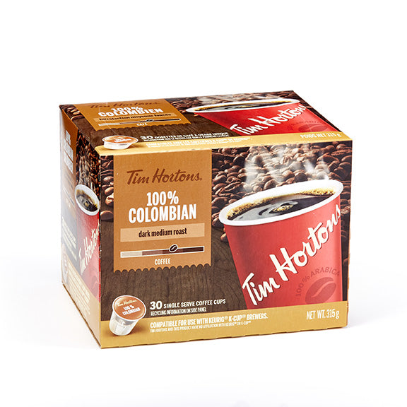 Tim Hortons 30Pk Colombian Coffee Pods 315 G