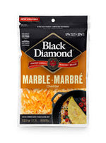 Black Diamond Shredded Cheese, Marble 320g