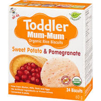 Mum Mum Organic Rice Biscuit Sweet Potato Pomegranate 50g