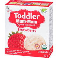 Mum Mum Organic Rice Biscuit Strawberry 50g