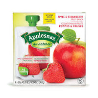 Applesnax  Apple & Strawberry Unsweetened Pouches 4 X 90G