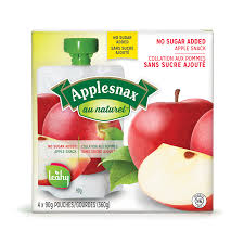 Applesnax Apple Unsweetened Pouches 4 X 90G