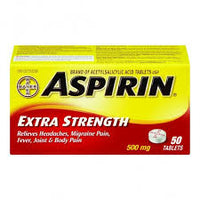 Aspirin  Extra Strength Tablets 50 Pk