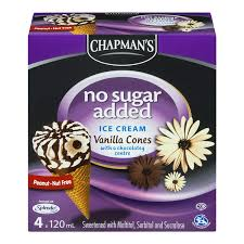 Chapmans Vanilla Cone, No Sugar Added 4 X 120ML