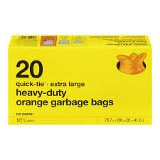 No Name Quick Tie Heavy Duty Garbage Bags 20Pk
