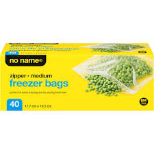 No Name Medium Freezer Bags 40Pk