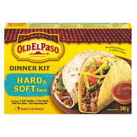 Old El Paso Dinner Kit, Hard & Soft Taco 340g
