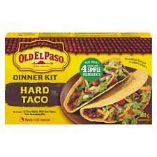 OLD EL PASO HARD TACO DINNER KIT 250 G