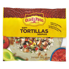 OLD EL PASO LARGE TORTILLA SHELLS 334G