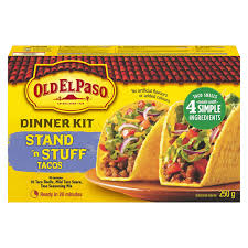 OLD EL PASO DINNER KIT STAND AND STUFF 250 G
