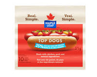 Maple Leaf Top Dogs Less Salt 375 G
