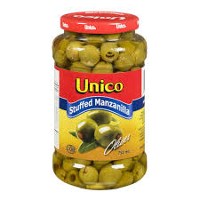 Unico Stuffed Manzanilla Olive 750 Ml